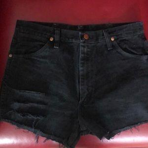 Wrangler black jean shorts